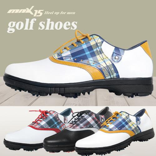 MNX15 남성용 클래식 스파이크 골프화mg03 네이비(MG03navy)