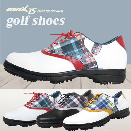MNX15 남성용 클래식 스파이크 골프화mg03 그린(MG03green)