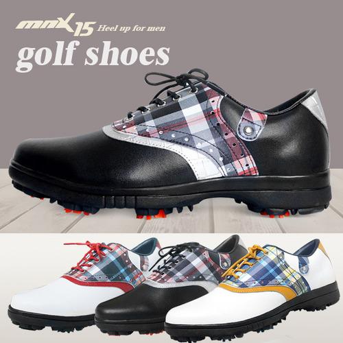 MNX15 남성용 클래식 스파이크 골프화mg03 블랙(MG03black)