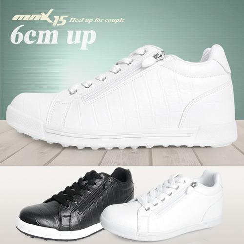 MNX15 남여공용 키높이스니커즈 6cm루나 화이트(lunawhite)