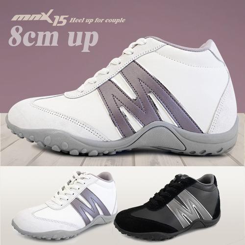 MNX15 남여공용 키높이운동화8cm맥스화이트(maxwhite)